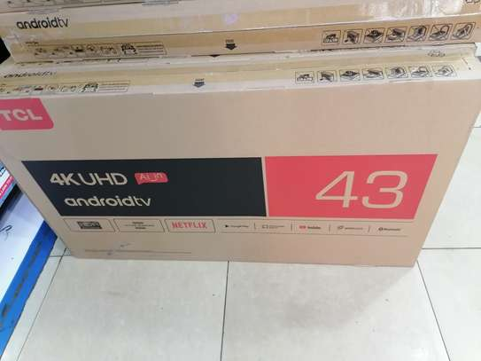 Brand new 43 inch tcl smart 4k android led TV image 1