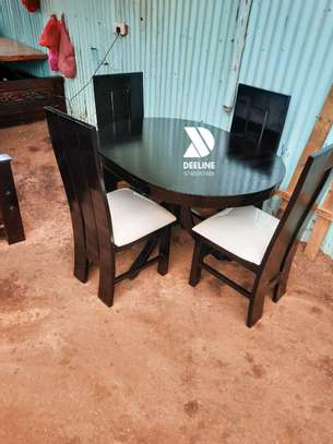 Black 4 Seater Dining Table sets image 9