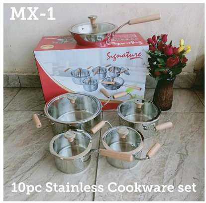 10pcs stainless steel sufuria/induction stainless steel sufuria image 1