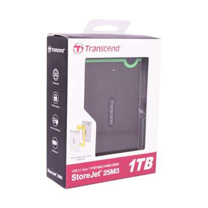 1 TB Transend External Memory Hard Disk with connector cable image 1