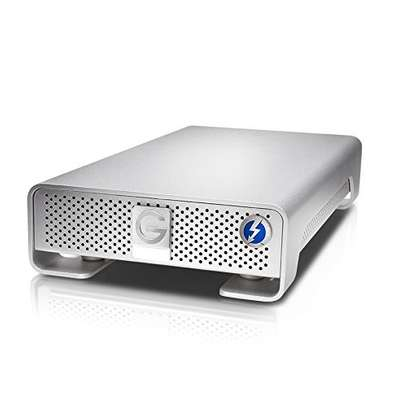 G-Technology 6TB G-Drive with Thunderbolt and USB 3.0 Desktop External Hard Drive, Silver image 1