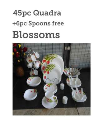 45pc quadra set +6 pc dinner spoons free image 2