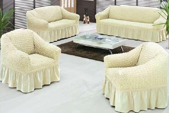 sofa covers 7 sitter cream white image 1