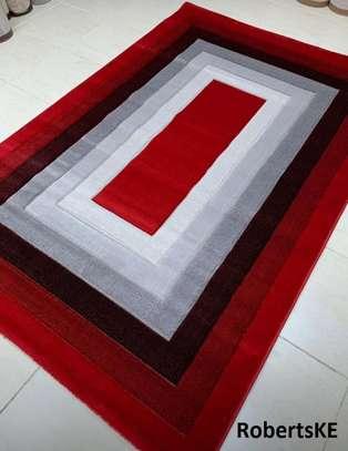 turkish red-white-greyish carpet 5by8 image 1