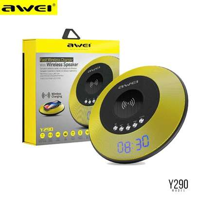 AWEI Y290 Bluetooth Speaker with Wireless Charger Mini Portable Speakers Waterproof Sound Box image 4