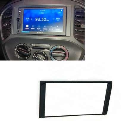 Car Radio Stereo 2DIN Fascia Panel Refitting Frame Fascia Trim Install Mount Kit. image 1