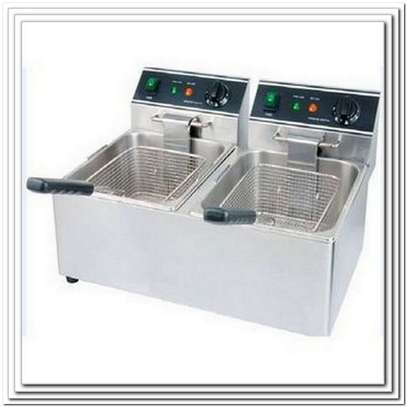 Double Deep Fryer for Chips, Chicken, Fish, Bread E.T.C image 1