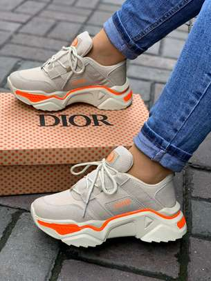 Grey and cream Dior sneakers image 1