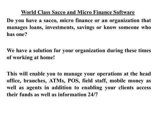 Sacco and Micro Finance Software image 1