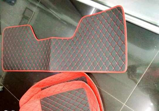 All Weather Waterproof Synthetic Leather Car Floor Mats (Set of 5pcs) image 6