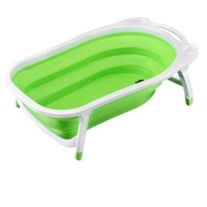 Newborn-to-Toddler Portable Folding Bath Tub - Green( big size) image 1