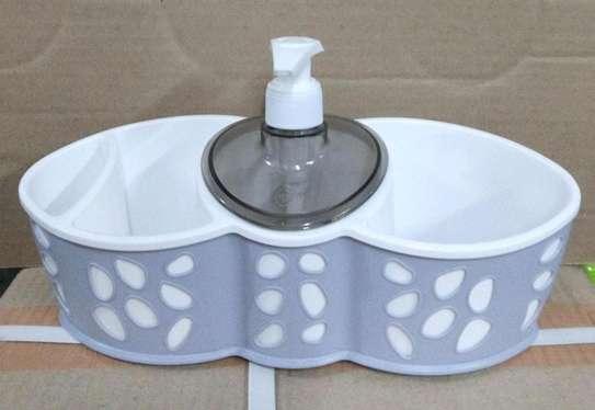 Max plastic sponge holder and dispenser image 1
