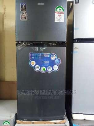 Mika Refrigerator 156L Direct Cool Double Door Dark Silver image 2