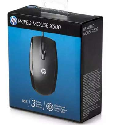 hp wired usb mouse x500 image 1