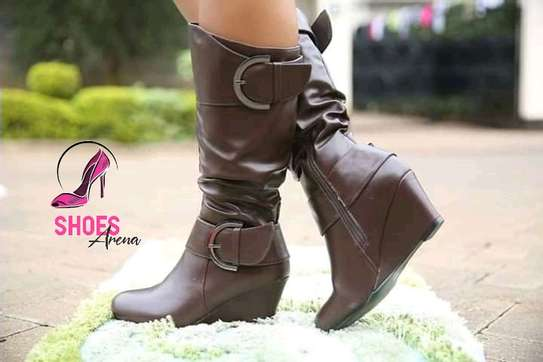 Rainy season leather boots image 3