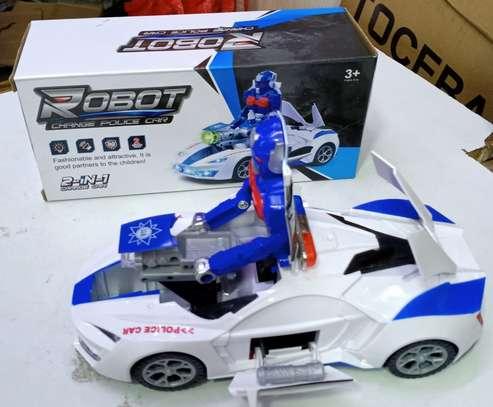 White Robot toy image 1