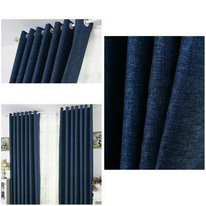 Navy Blue Linen Curtains image 2