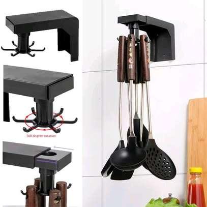 Multifunction shelf 6  rotating hooks organizer image 6