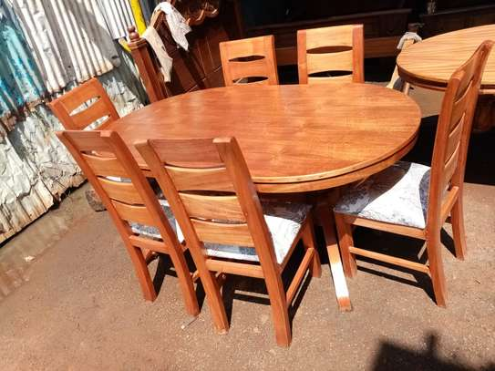 6 Seater oval shape table