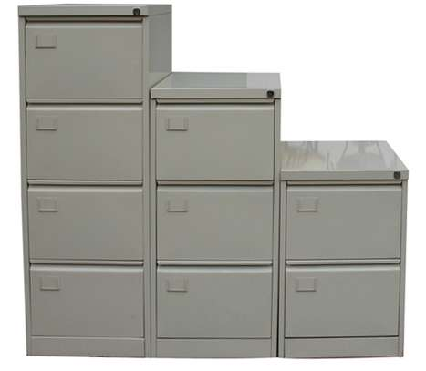 Metallic Filing cabinets in Various sizes image 1