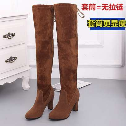 Suede long boots image 4