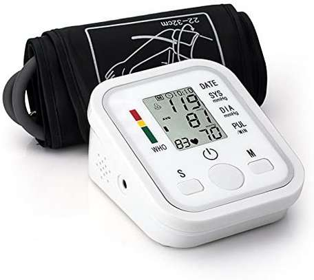 Portable Blood Pressure Monitor Household Sphygmomanometer Arm Band Type Digital Electronic Mini Blood Pressure Meter Tonometer image 1