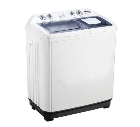 MIKA Washing Machine, Semi-Automatic, Twin Tub, 10Kg, White image 1