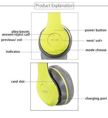 Wireless Headphones Bluetooth Headset P47 Stereo image 3
