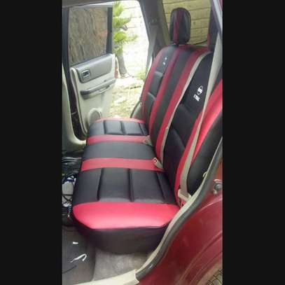 Car seat covers leather upholstery image 5