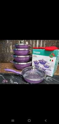 Dessini coloured granite cookware set image 2