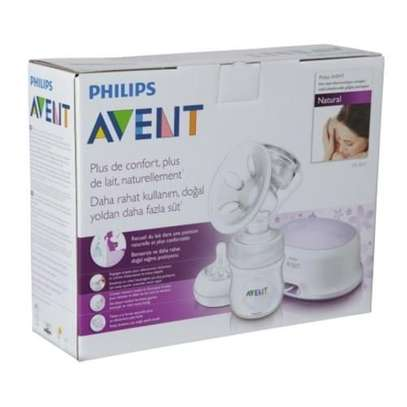 Philips AVENT Electric Breast Pump with Free Disposable Breast Pad - Clear image 2