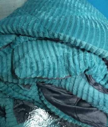 fleece blanket turquoise image 1