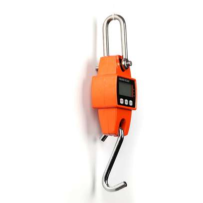 300kg/600lb LCD Digital Crane Scale Hook Hanging Weighing Heavy Duty UK image 5