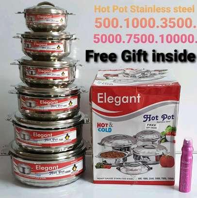Elegant stainless steel hot pot image 1
