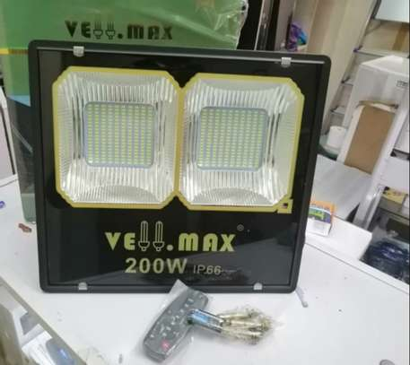 200 Watts High Output Quality Vellmax Outdoor Security LED Solar FloodLight image 1