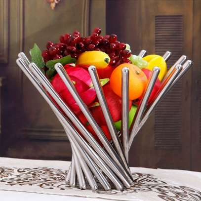 stainless steel table decor( without the fruits)