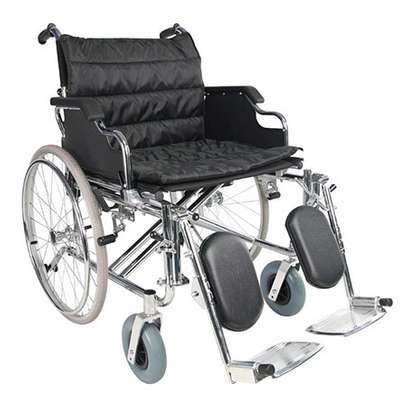 "Extra Wide Manual Wheelchair, 24"" Wide Seat image 1"