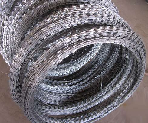 Spiral galvanized razor wire image 2