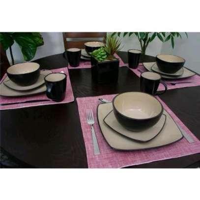 24-pieces ceramic dinner set image 5