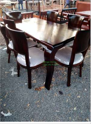 Antique mahogany dining table image 5