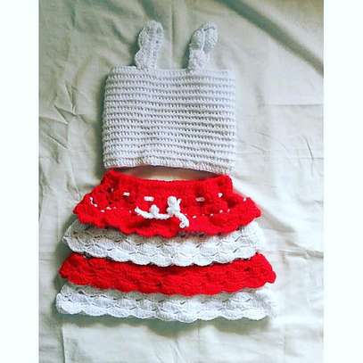 Crocheted top and skirt. image 1