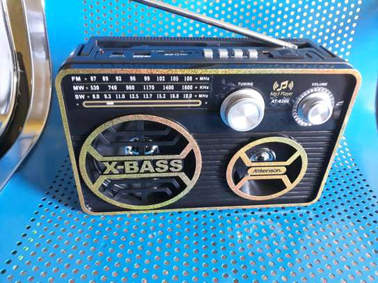 Rechargeable radio with usb port and memcard player