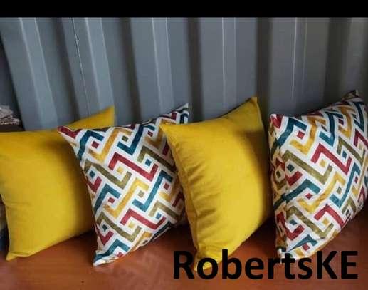 yellowish throw pillows image 1