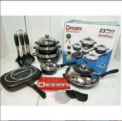 23 piece nonstick Dessini cooking set image 1