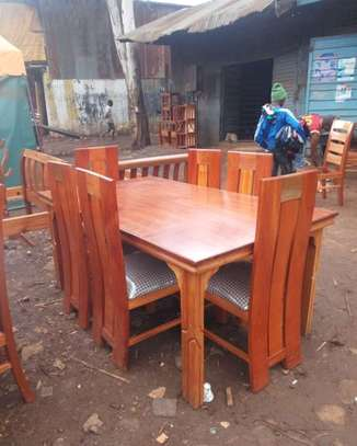 6 Seater mahogany Dinning table image 1