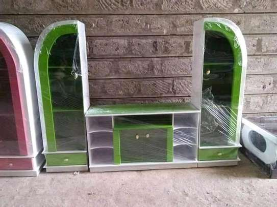 A green designed TV stand image 1