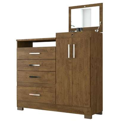 Moval Chest Elegance Dresser 4 Drawers & 2 Doors With MirrorMoval Chest Elegance Dresser 4 Drawers & 2 Doors With Mirror image 1
