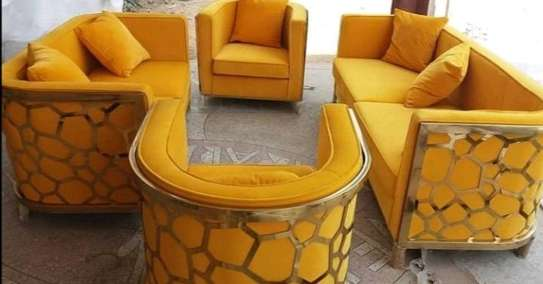 7 SEATER YELLOW SOFA FOR SALE IN NAIROBI image 1
