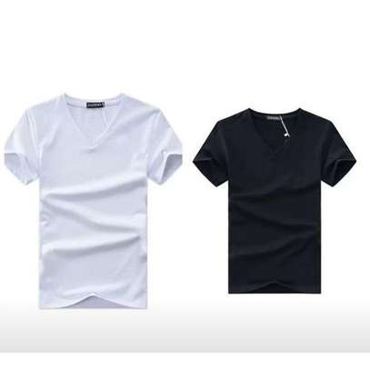 2 pack V-neck T-shirts- black & white
