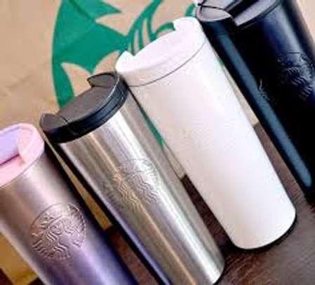 StarBucks White Starbucks Etched Stainless Steel Tumbler 16 Ounce image 2